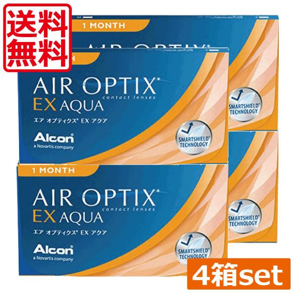 コンタクトレンズ 2week (送料無料)エアオプティクスEXアクア(O2オプティクス)×4箱(チバビジョン) エアオプティクス 処方箋不要 エアオプ 日本アルコン エアオプティクスex