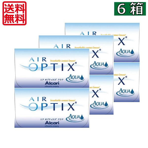 (送料無料) エアオプティクスアクア (6枚)×6箱 (チバビジョン) (国際格安配送)    02P05July14