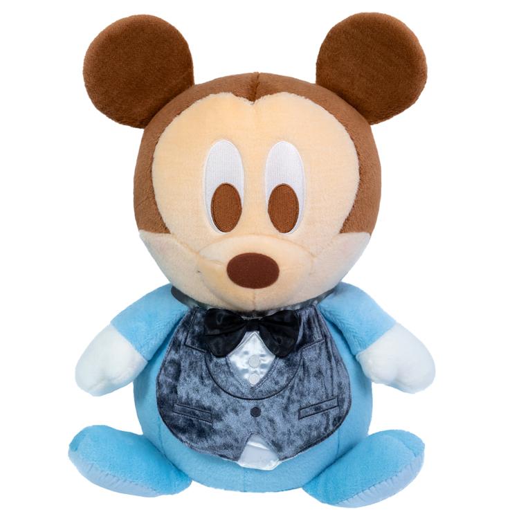 ベビーミッキーマウスのフォーマル姿ウェイトドール(1体)両足裏刺繍入り【ウェルカムドール 体重ドール ディズニー Disney】【親ギフト 出産祝い 結婚式 披露宴 誕生日プレゼント】