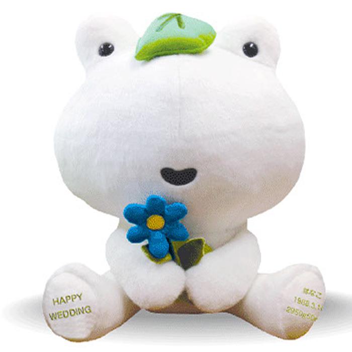 次の日ケロリのウェイトドール(ホワイト)【ウェルカムドール 体重ドール かえる カエル 蛙 結婚式 親ギフト 出産祝い 誕生日プレゼント】