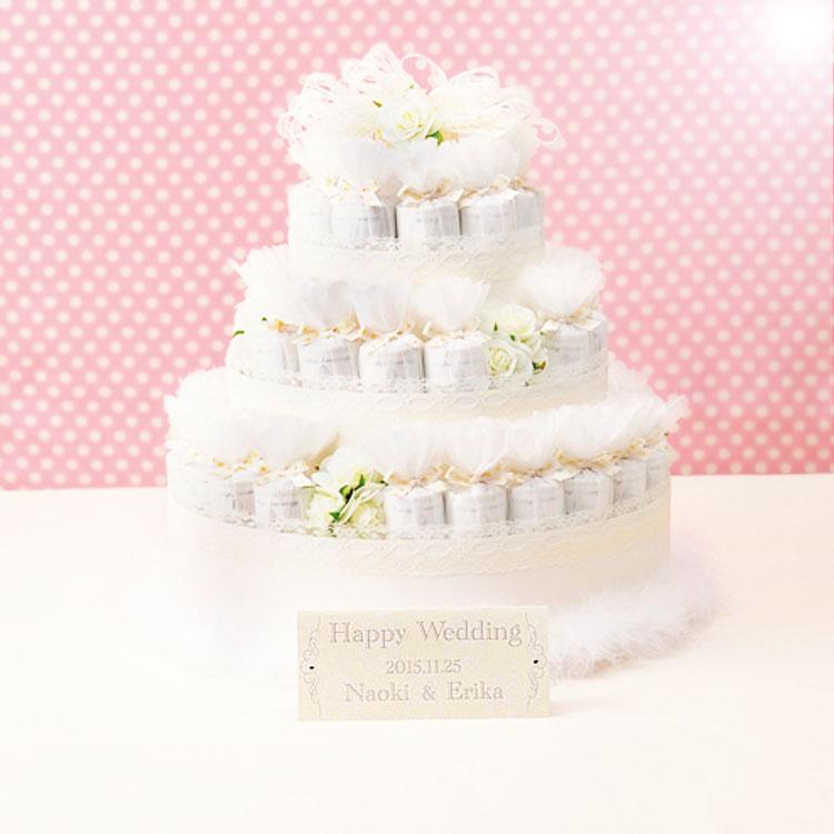 シャイニーデコレーションケーキのプチギフト43個セット【結婚式 ウェルカムボード ディスプレイ】