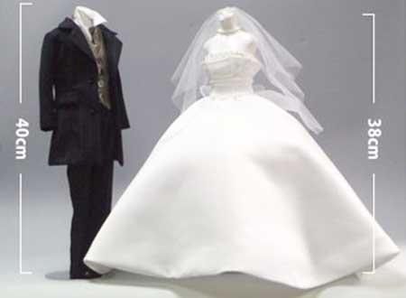 マイウェディングドレスorタキシードオリジナルミニチュアドレス トルソー(1体)【結婚式 ウェルカムドール 結婚祝い 結婚記念】