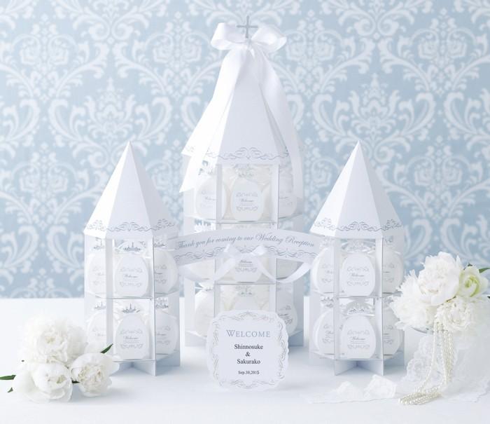 ホワイトウェディング~チャペルタワー~ ハート型ミニパイ48個セット 【ディスプレイ オブジェ 結婚式 クリスマス】
