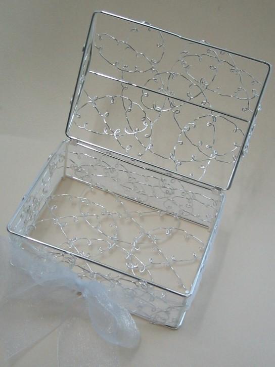 hitomishop | Rakuten Global Market: Silver wire box with organdy Ribbon