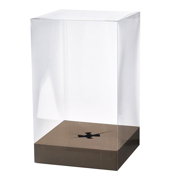フラワーアレンジ 定価 人形 市場 ブーケなどのギフト用 ほこりよけに 台紙付き クリアボックス XXLサイズ 30cm×30cm×高さ50cm 日本製 プレゼント用 保存ボックス ギフトボックス 保管用 透明箱 ブーケ