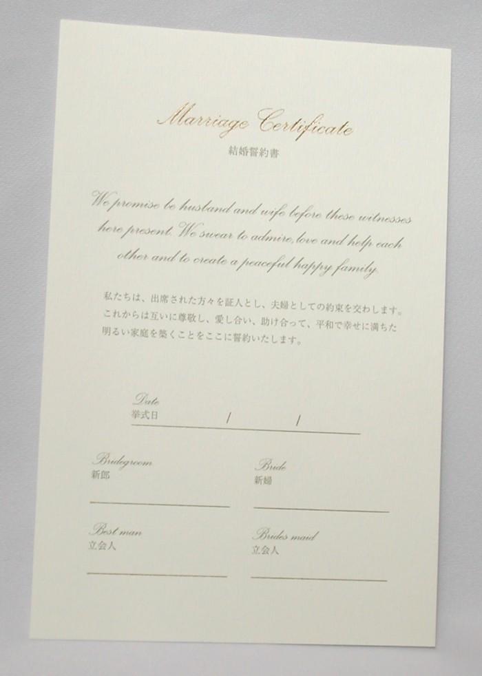 人前結婚式誓約書用追加用紙E(レーチェヌバックベージュ用)