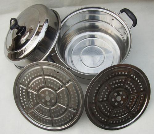 ステンレス マルチ 蒸し 鍋 不銹鋼(ふしゅうこう) 30cm、32cm、34cm、