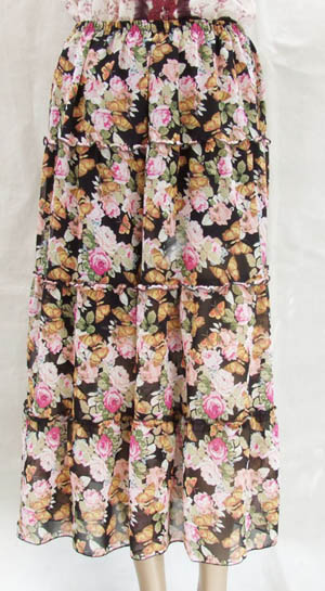 涼しいシルク100% ロング スカート 【シルクスカート】【シルク スカート】【レディース】【シルク100%】【シルクのスカート】【絹】【silk】