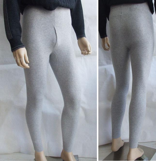100%カシミヤ 男性用ズボン下 【メンズ ズボン下】【ズボン下】【アンダーショーツ】【ロングアンダーショーツ】【ロングアンダーパンツ】