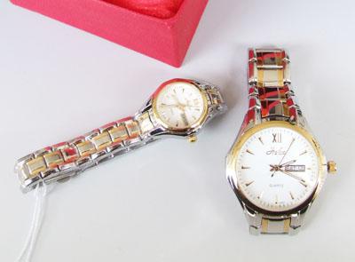 ペア 腕時計 カレンダ付き ペアでこの値段