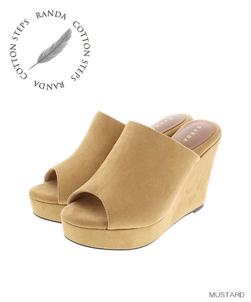 RANDA | Rakuten Global Market: RANDA/COTTON STEPS/ suede wedge sandals /KS7506/Y