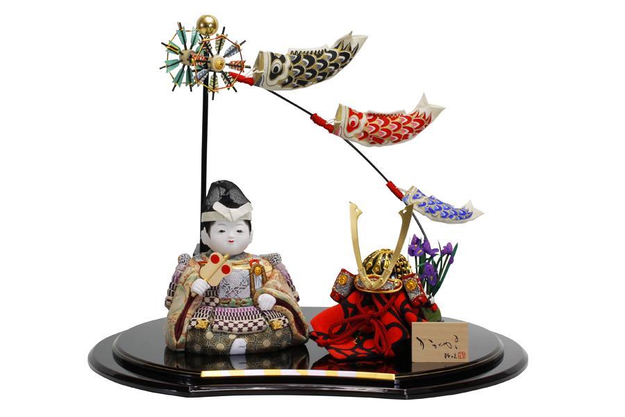 【五月人形 コンパクト】 【五月人形 大将飾り】 【木目込み】 【5月人形】【人気】【小さい】【送料無料】五月人形 大将飾り 悠x匠 45HT-003-0013K