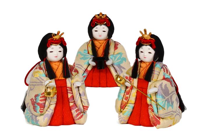 11号 三人官女セット雛人形 お雛様 【雛人形 三人官女】【ひな人形 】【人気】【smtb-m】H3-ON-11KN-017