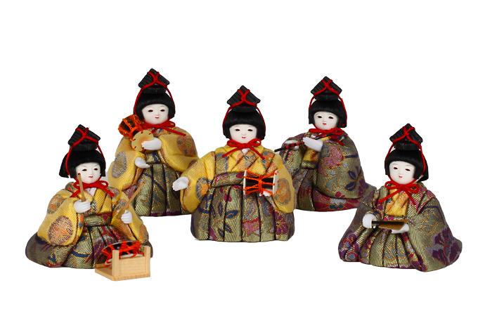 12号 五人囃子セット雛人形 お雛様 【雛人形 五人囃子】【ひな人形 】【人気】【smtb-m】H3-ON-12GB-012