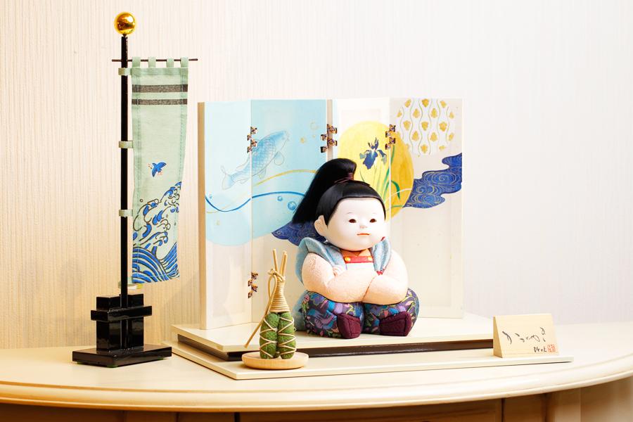 【新作】【五月人形 コンパクト】 【五月人形 童飾り】 【木目込み】 【5月人形】【人気】【小さい】【送料無料】五月人形 童飾り 樹 IO-0007-12B