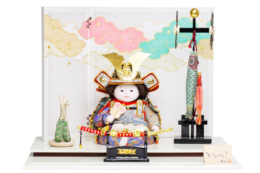 童大将飾り 優 H5-YS-0001-30B【新作】【五月人形 コンパクト】 【五月人形 童飾り】【5月人形】【人気】【小さい】【送料無料】