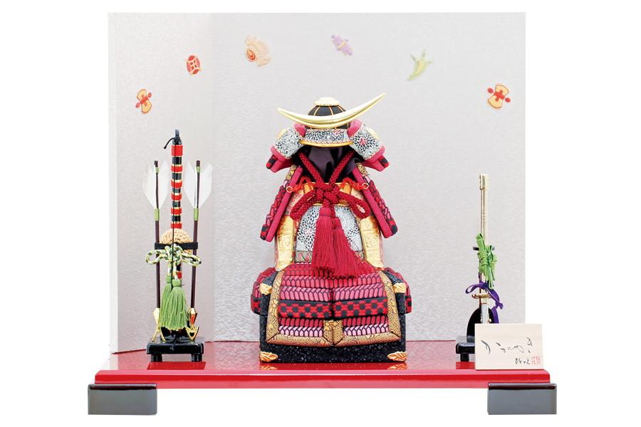 五月人形 おしゃれ コンパクト 人気 木目込み 鎧飾り 端午の節句 勝 - 宝尽くし H5-Y-02-HB09