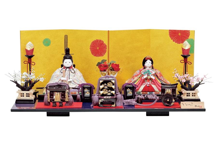 雛人形 人気 木目込み おしゃれ かわいい ひな人形 コンパクト  叶 - かなう - 親王飾り H3-14SN-033