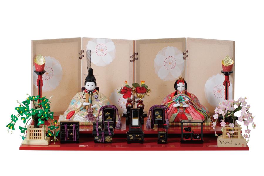 雛人形 人気 木目込み おしゃれ かわいい ひな人形 コンパクト  椛 - もみじ - 親王飾り H3-14SN-041