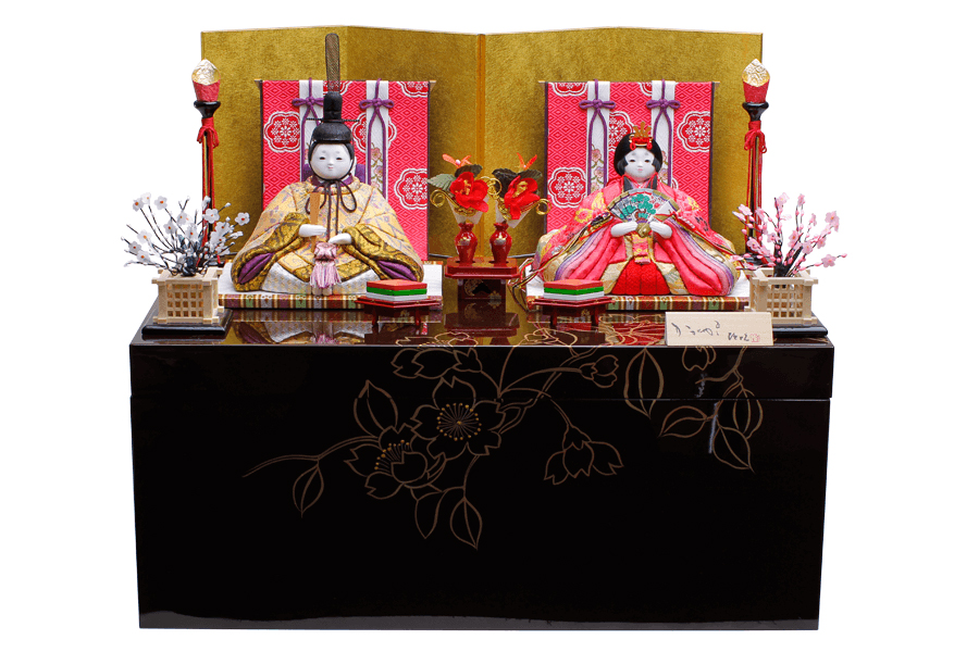 雛人形 人気 木目込み おしゃれ かわいい ひな人形 コンパクト 和 - なごみ - 収納親王飾り H3-14SN-046-I