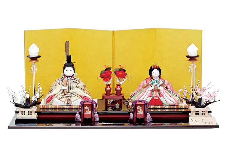 雛人形 人気 木目込み おしゃれ かわいい ひな人形 コンパクト 楓 - かえで - 親王飾り H3-14SN-062