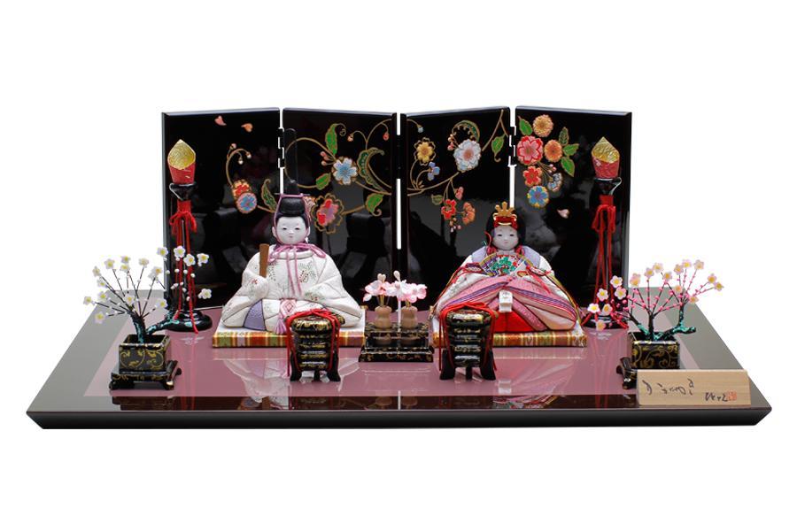 雛人形 コンパクト 人気 かわいい おしゃれ 木目込み ひな人形 繭 - まゆ - 親王飾り 11SN-002B