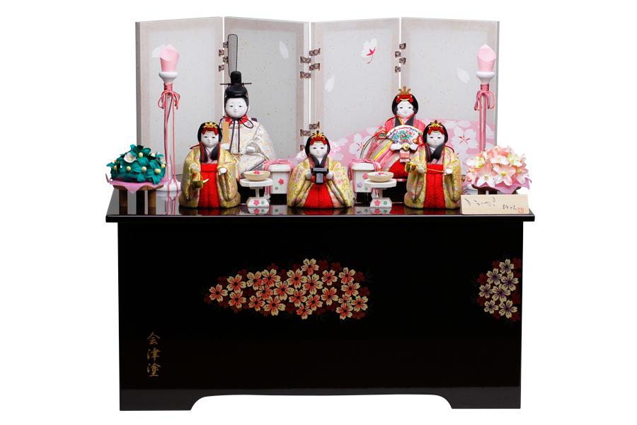 雛人形 人気 木目込み おしゃれ かわいい ひな人形 コンパクト  香 - かおり - 収納五人飾り H3-A11GN-009