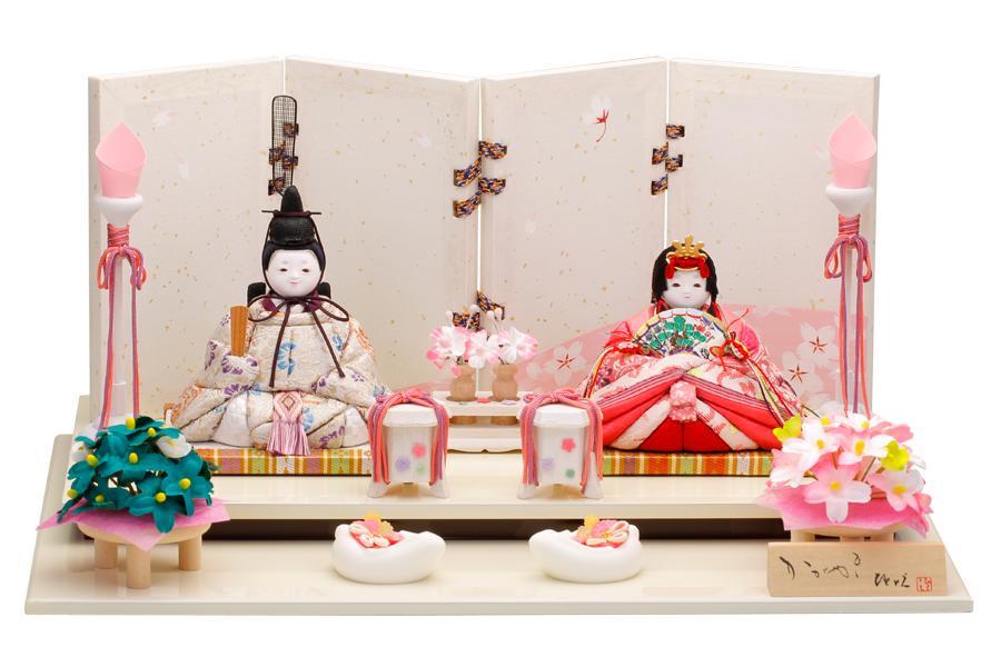 雛人形 人気 木目込み おしゃれ かわいい ひな人形 コンパクト  澪 - みお - 親王飾り H3-11SN-031