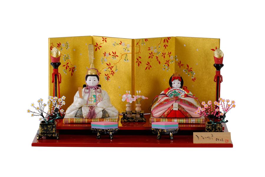 雛人形 コンパクト 人気 かわいい おしゃれ 木目込み ひな人形 12月誕生石 タンザナイト 親王飾り 11SN-T12A