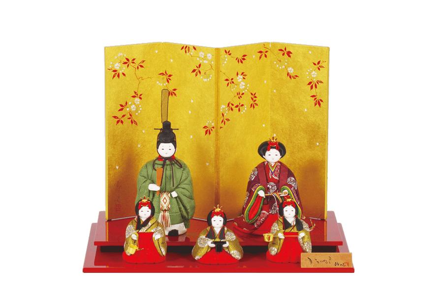 雛人形 コンパクト 人気 かわいい おしゃれ 木目込み ひな人形 空 - そら - 五人飾り 05TG-002