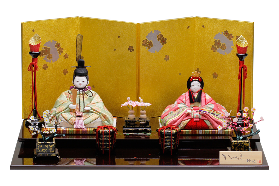 コンパクト - おしゃれ かなで - 親王飾り かわいい 人気 ひな人形 雛人形 H3-12SN-011 奏 木目込み