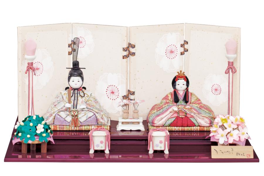 雛人形 人気 木目込み おしゃれ かわいい ひな人形 コンパクト  凛 - りん - 親王飾り H3-12SN-025A