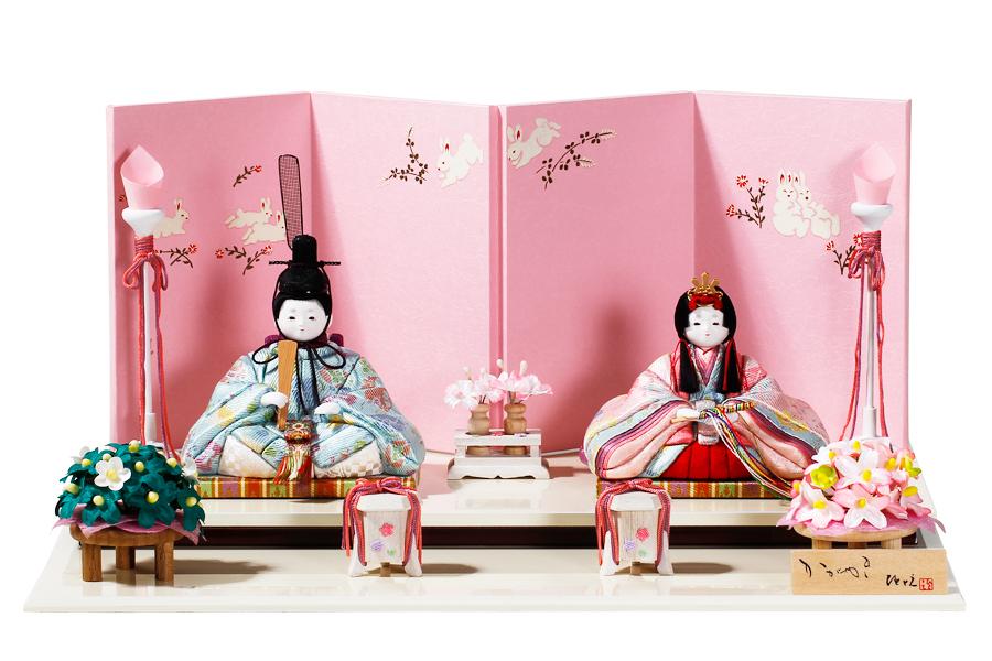 雛人形 人気 木目込み おしゃれ かわいい ひな人形 コンパクト  杏 - コンパクトん - 親王飾り H3-12SN