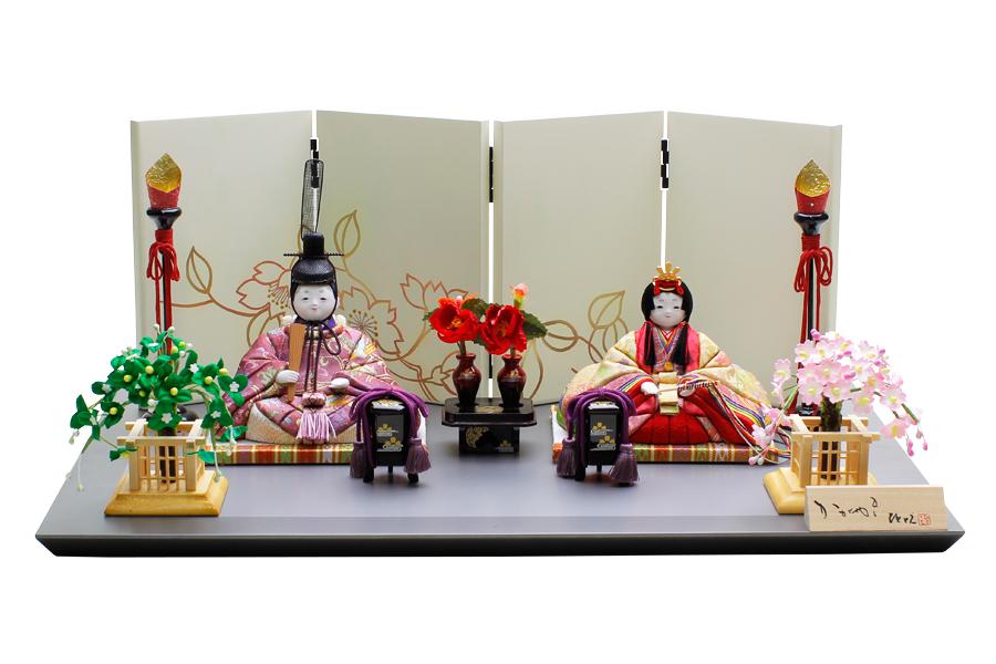 雛人形 人気 木目込み おしゃれ かわいい ひな人形 コンパクト  実 - みのり - 親王飾り H3-12SN-052