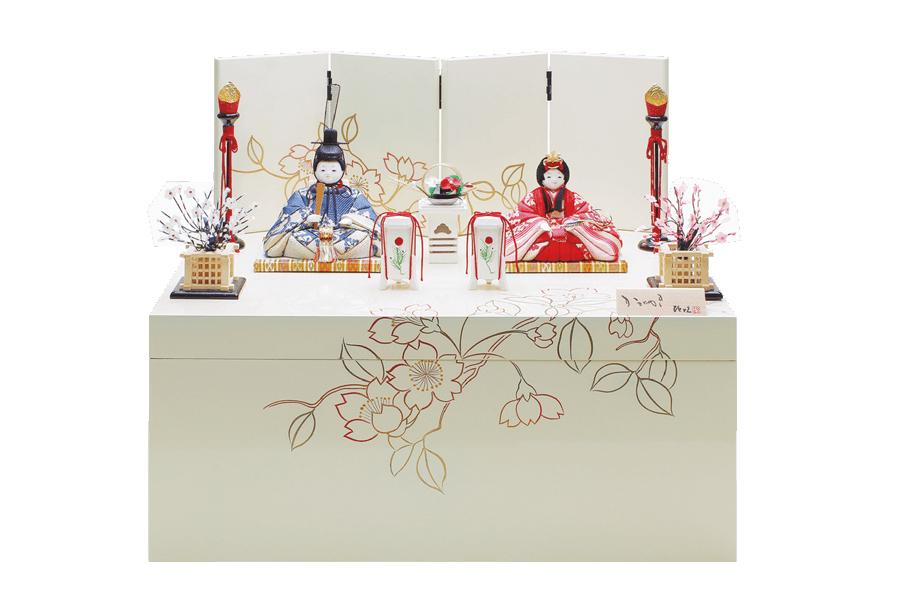 雛人形 木目込み 人気 おしゃれ かわいい ひな人形 コンパクト  陽 - よう - 収納親王飾り H3-12SN-054-I