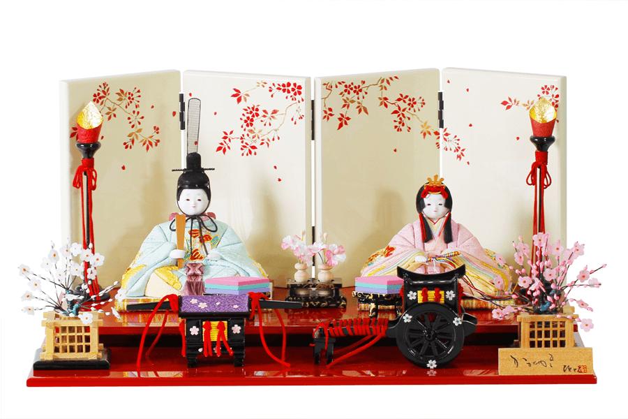 雛人形 人気 木目込み おしゃれ かわいい ひな人形 コンパクト  絢 - コンパクトや - 親王飾り H3-12SN-101