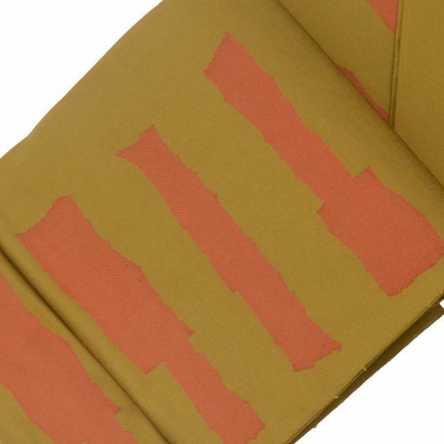 【クーポン利用で10%OFF】【中古】 リサイクル 袋帯 / 仕立て上がり / リサイクル帯 / 正絹 洒落袋 幾何学文様 茶系 jj2424b 【着物ひととき】