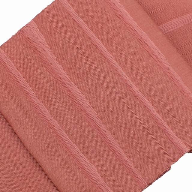 【全品20】リサイクル 着物 リサイクル 名古屋帯 セール 【中古】 正絹 八寸 なごやおび 紬地 赤系 縞文様 ll0513c
