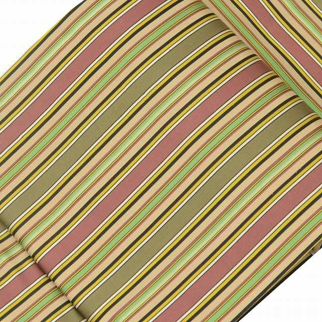 リサイクル 名古屋帯 中古 正絹 九寸 なごやおび 縞文様 美品 茶系 ll1130b