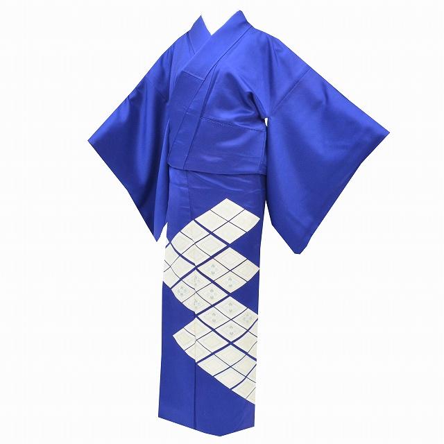 【中古】 リサイクル 色留袖 正絹 仕立て上がり 三つ紋付 青色系 リサイクル着物 裄65cm M 身丈158cm M ちょっとふくよかL 特品★★★★ mm3814b 【着物ひととき】