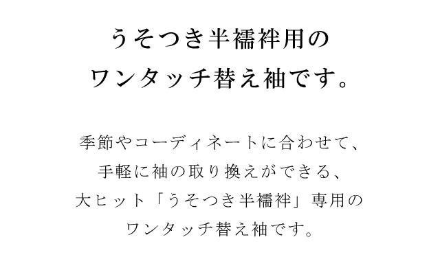 全品20OFF 替え袖 ワンタッチ替袖 うそつき半襦袢 冬用 ポリエステル 洗える 日本製 オリジナル 百合 青 spo8069 bob15新品着物ひととき34RAjLqc5