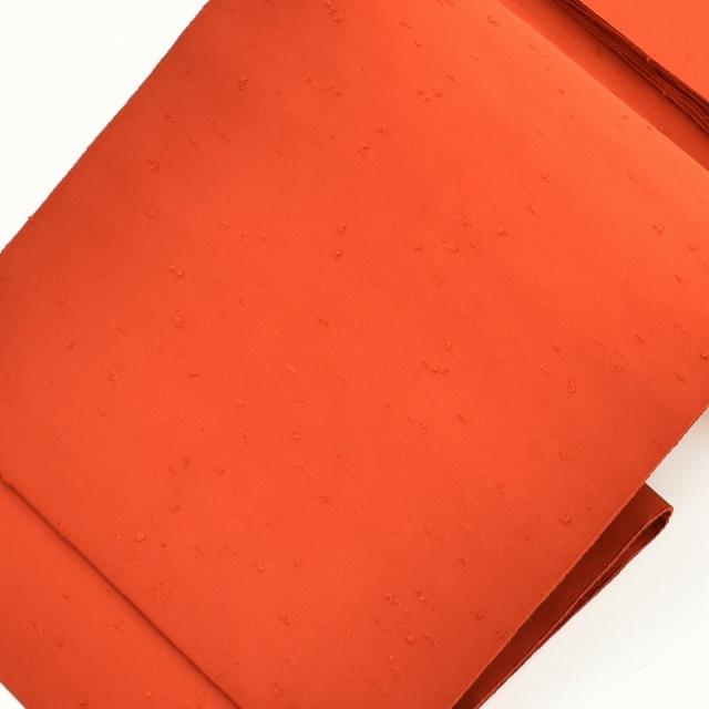 【全品20】リサイクル 着物 リサイクル 名古屋帯 セール 【中古】 正絹 八寸 紬地 ひげ紬 美品 エンジ色 hh2362 着物 着物 ひととき