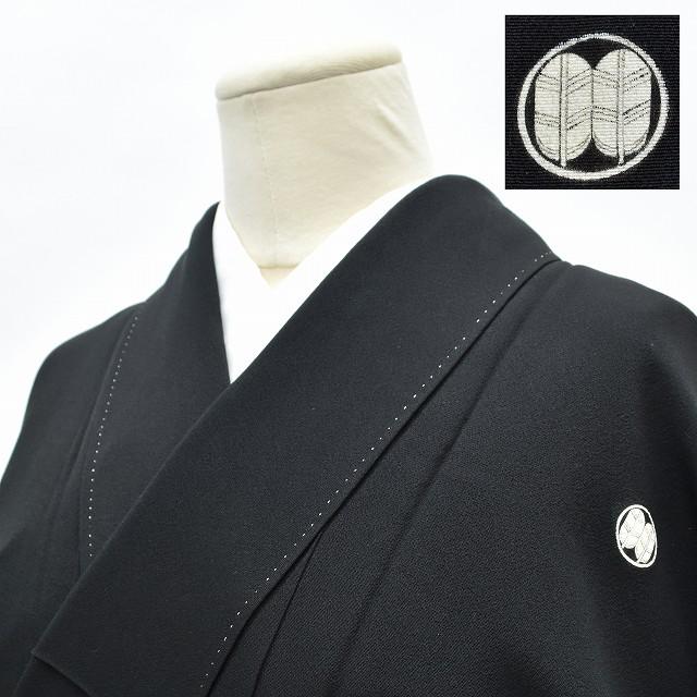 【中古】 リサイクル着物 / 喪服 正絹 五つ紋 袷 裄62cm 黒系 裄Sサイズ 身丈 Mサイズ hh5682 【着物ひととき】