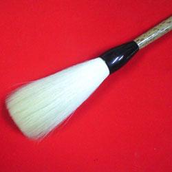 特大筆 細光鋒筆1寸1分 支那竹黒水牛軸