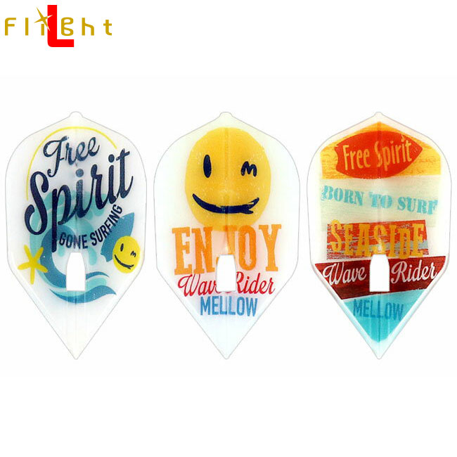 L-style Player flight L Mayumi Ouchi ver 3 shape clear white (dart flight)