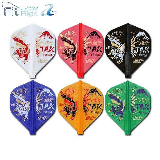 【あす楽対応】 Fit Flight【AIR】(フィットフライト エアー)×鈴木猛大 Ver.3 6COLORS EDITION スタンダード MIX (ダーツ フライト フィット ダーツ 羽 darts flight)