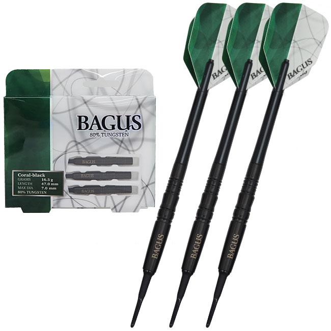 BAGUS(バグース) ORIGINAL DESIGN BARREL Coral Black(コーラル ブラック) (ダーツセット ダーツ セット ダーツ タングステン ダーツ バレル タングステン バレル ストレート ダーツ シャフト ダーツ チップ ダーツ フライト ダーツ 矢 darts barrel)