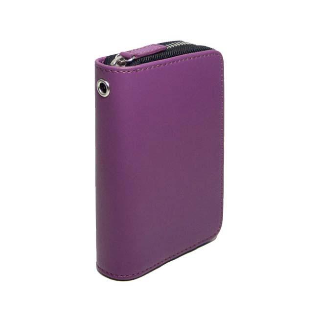 Minute Case<紫>minittsukesu紫色Purple丰富多彩的镖情况DARTSCASE大容量人造革礼物小型软件镖镖情况