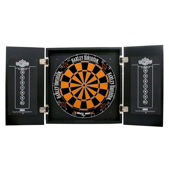 Genial Harley Davidson Oil Can Darts Kit 61992 (DART Board Cabinets)