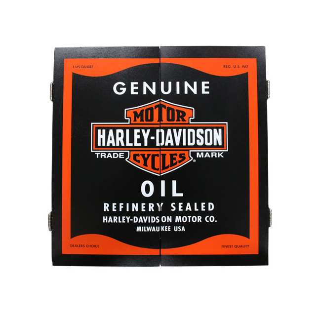 Harley Davidson Oil Can Cabinet Only 61912 (DART Board Cabinets)